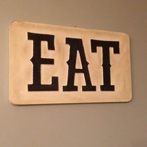 Eat wall sign